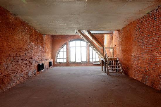 Апартаменты, около 20% апартаментов продаются в стиле «лофт»