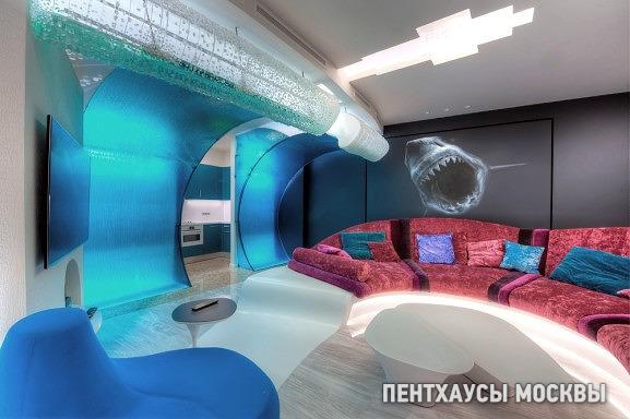 Интерьеры пентхауса в морском стиле, МФК «Город столиц»