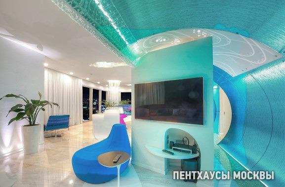 Пентхаус «Волна» Город Столиц, лучший дизайн интерьера частных апартаментов