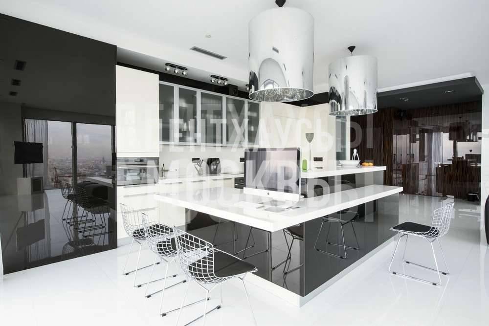 Минимализм с мраморными стенами, апартаменты в башне «Сaнкт-Пeтeрбург»