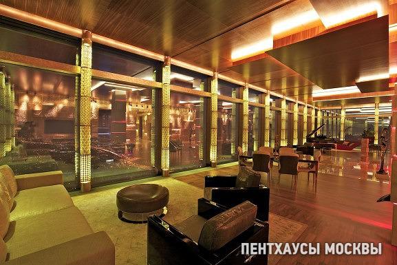 Дом в облаках — интерьеры пентхауса на последнем этаже башни «Москва»