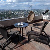 Пентхаус с открытой террасой на 45-м этаже жилого комплекса «Триумф Палас»