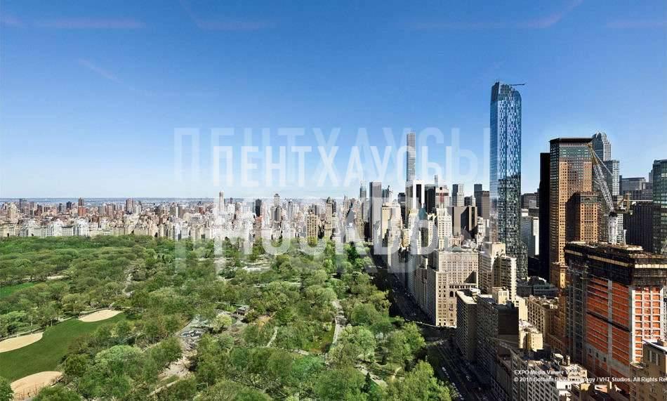 Глянцевый пентхаус с видом на Центральный парк (Нью-Йорк, Манхэттен)